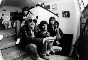 Damn Fine: Tom Petty (in shades) and the Heartbreakers in repose; Tench is second from right. Photo by Joel Bernstein.