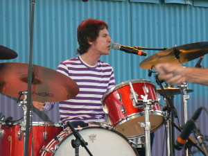 The Groove You Knead: Heyman behind the kit with the Doughboys in Atlanta in August 2008. Photo courtesy Richard X. Heyman.