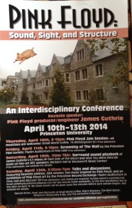 PINK FLOYD _ SOUND SIGHT AND STRUCTURE CONFERENCE POSTER