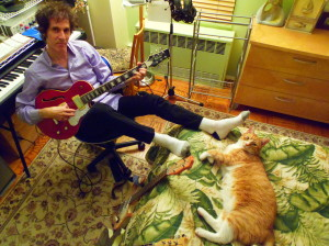 Two cool cats rockin' in the cradle. Photo by Nancy Leigh.