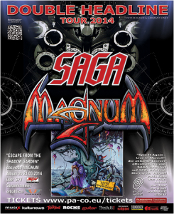 SAGA - MAGNUM 2014 TOUR POSTER