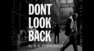 DONT LOOK BACK - TITLE CARD WITH GINSBERG